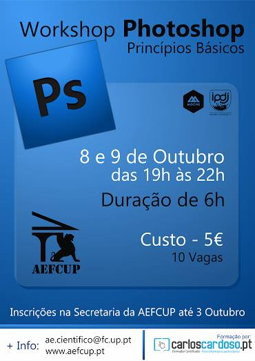Workshop Photoshop PORTO na AEFCUP (Esgotado)