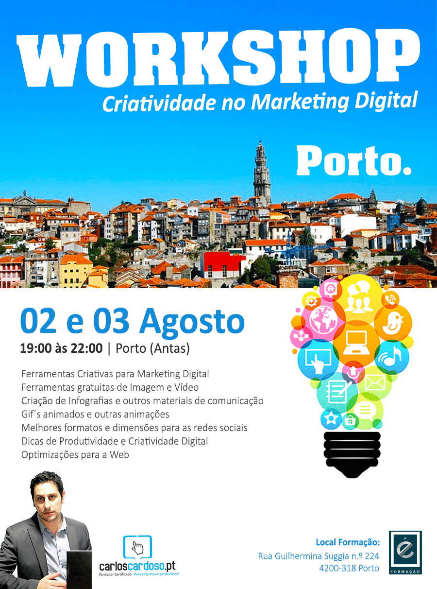 Workshop Criatividade e Ferramentas para o Marketing Digital